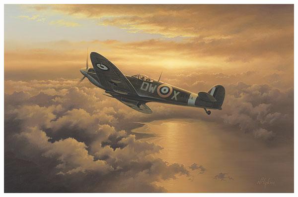 FREEDOM Spitfire Aviation Art by Neil Hipkiss 600web